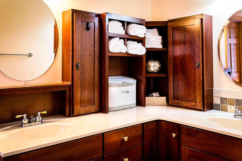 Runder Badezimmerspiegel