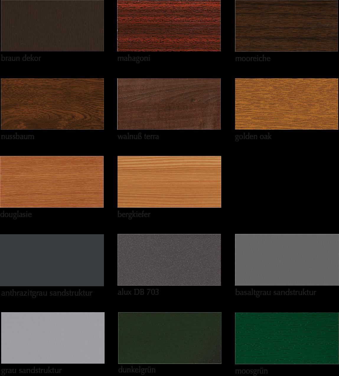 Dekorvielfalt –Farben für Fenster & Terrassentüren